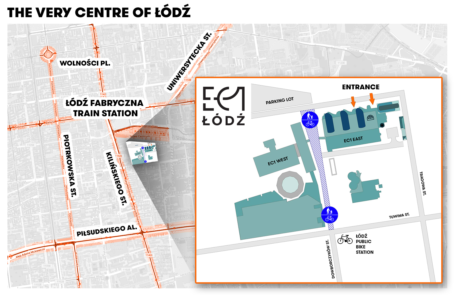 "Map of ""EC1Łódź - City of Culture"" in Łódź"